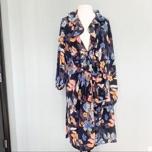 Who What Wear 3X Floral wrap dress